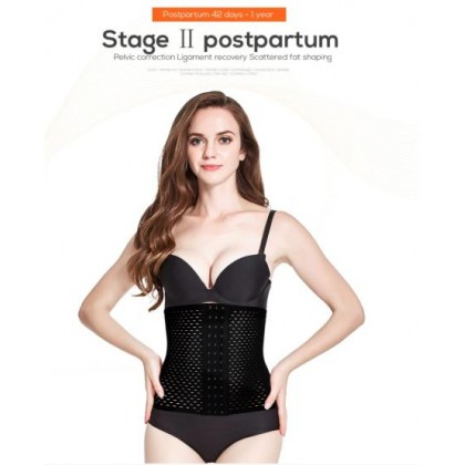 VIRENE Super Slim Bengkung 4 Tulang Women Waist Trainer Abdomen Slimming Girdle Control Belt Waist Cinchers Body Shaper Tummy Control Shaperwear Ready Stock 111108