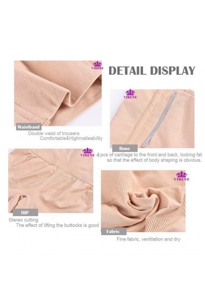 Plus Size Women's High Waist Slimming Girdle Pants Shapewear Corset Tummy Control Girdle Safety Pants Ready Stock 221106