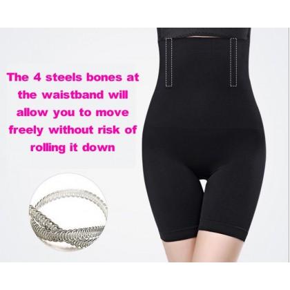 READY STOCK Plus Size Women's High Waist Slimming Girdle Pants Shapewear Corset Tummy Control Girdle Safety Pants 221106
