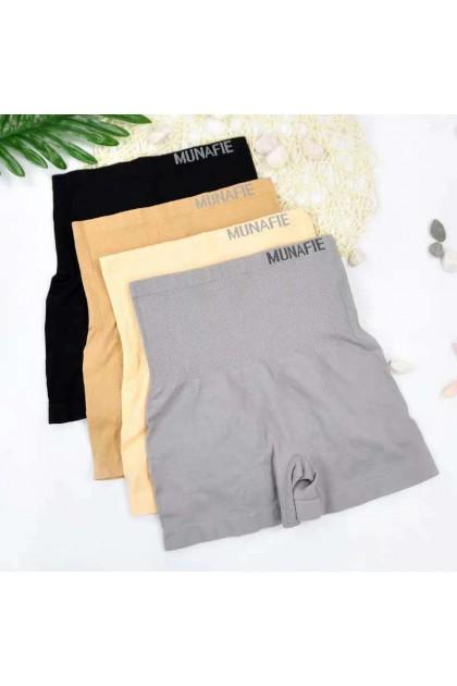 100% Original Japan Munafie High Waist Safety Pants Slimming Abdomen Girdle Pants Tummy Control Underwear Ready Stock 101186