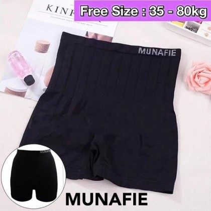 100% Original Japan Munafie High Waist Safety Pants Slimming Abdomen Girdle Pants Tummy Control Underwear Ready Stock 101186