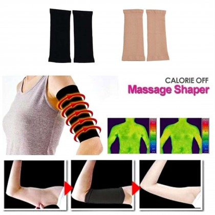 VIRENE 2pcs Seamless Slimming Arm Shaper Arm Shapewear Arms Trainer Arm girdle Weight Loss Slimming Arm Massage Lose Fat Shaper Fat Burning Arm Sets Ready Stock 101184