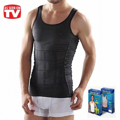Ready Stock Original Slim N Lift SUPER SLIM Body Shaper Men Slimming Vest Singlet 219186