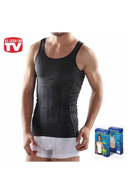 Men Slimming Singlet Original Slim N Lift SUPER SLIM Body Shaper Men Slimming Vest Singlet Ready Stock 219186