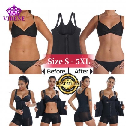PLUS SIZE Super Slim Body Hot Shaper Slimming Sauna Suit Shapewear Corset 211199