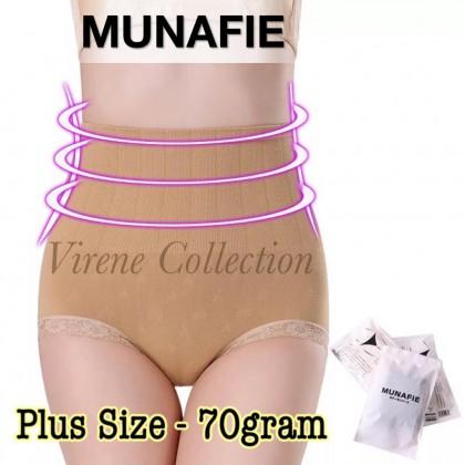 Ready Stock Plus Size 70 GRAM 100% ORI MUNAFIE Premium High Waist slimming Shaping Panty 101060MHP