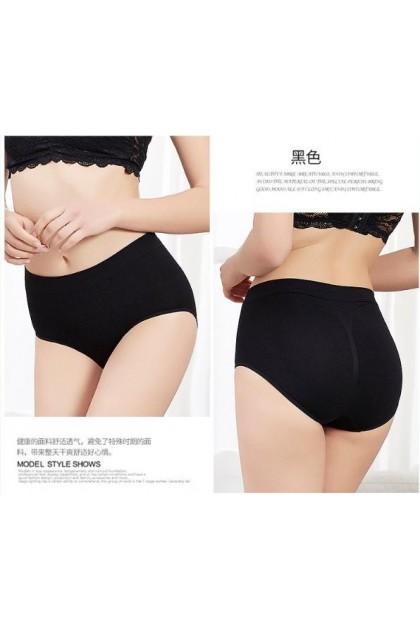 Japan Medium Waist Hip Lifting Women Uterus Warming Underwear Seluar Dalam Wanita 蜂巢暖宫中腰底裤 Ready Stock 101172