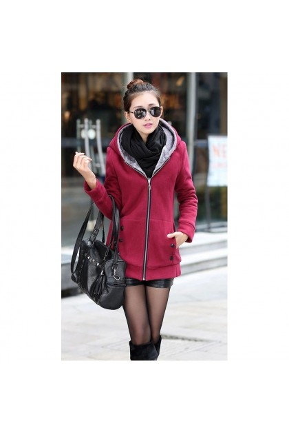 VIRENE【5 COLORS】PLUS SIZE Hooded Sweater READY STOCK Hooded Jacket 现货 外套 S - 3XL Clothing Wholesale Ready Stock 751144