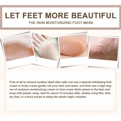 Foot Mask 【100% Original BIOAQUA】 Honey Whitening Moisture Foot Mask Dead Skin Remover Foot Care Ready Stock 8955BA