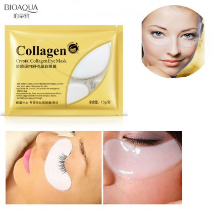 BIOAQUA 【100% Original】Collagen Eye Mask Anti Wrinkles Hydrate Eye Bag Reduce Puffiness Dark Circles 9100BA