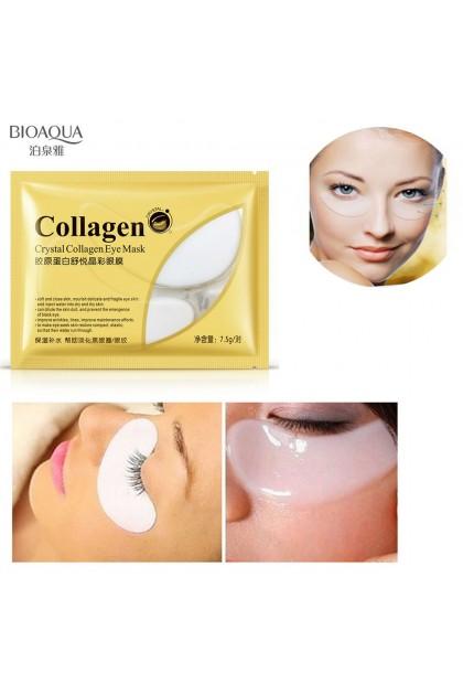 BIOAQUA 【100% Original】Collagen Eye Mask Anti Wrinkles Hydrate Eye Bag Reduce Puffiness Dark Circles 9100BA