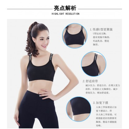 VIRENE Sport Bra Gym Bra Zumba Bra Genie Bra Fitness Bra Yoga Bra 3 Pcs Perpack Free Size Ready Stock Premium Quality 101286