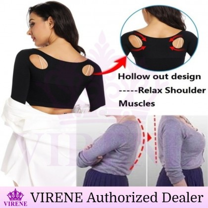 VIRENE Humpback Corrector Posture Corrector Back Support Arm Slimming Shapewear Therapy Back Spine Corrector Reduce Back Pain Top Ready Stock 431114