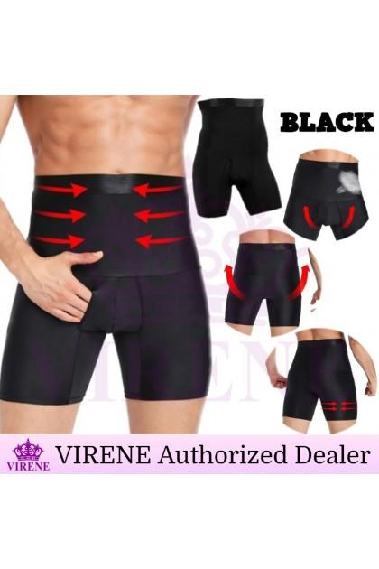 VIRENE Girdle Pants Men High Waist Girdle Slimming Shaper Abdomen Girdle Slim Tummy Brief Underwear Male Fitness Gym Sports Pants Corset Pant Ready Stock 430024