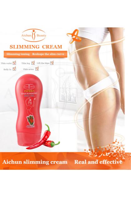 Slimming Cream Ginger & Chilli 3 Day AICHUN BEAUTY【100% ORIGINAL】(250ml) Body Massage Weight Loss Cream Burn Fat  Auxiliary Ready Stock 118828ACB