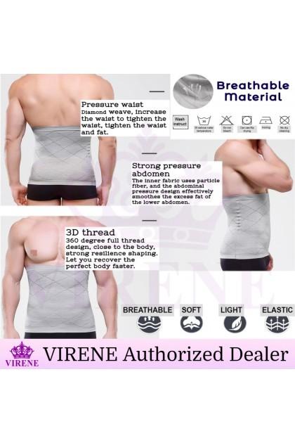 VIRENE Men Girdle Corset Body Shaper Bengkung Waist Belly Korset Slimming Shapewear Girdle Bengkung Lelaki Koset Sarung Kecut Perut Buncit Ready Stock 310080