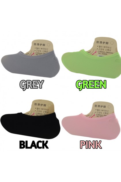 VIRENE Women Socks Low Cut Invisible Anti-Slip Ankle Sock 【8 Colors】Free Size Elastic Super Soft Breathable Ladies Socking Ready Stock 100086