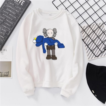VIRENE KAWS Sweater Hoodies Shirt KAWS Cartoon Men Women Long Sleeve Sweater Hoodies Top 【S - 3XL】7 Colors Ready Stock 322272