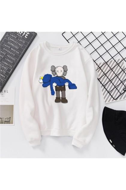VIRENE KAWS Sweater Hoodies Shirt KAWS Cartoon Men Women Long Sleeve Sweater Hoodies Top 【S - 3XL】7 Colors Ready Stock 322272