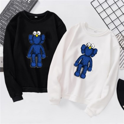 VIRENE KAWS Sweater Hoodies Shirt KAWS Cartoon Men Women Long Sleeve Sweater Hoodies Top 【S - 3XL】7 Colors Ready Stock 961013