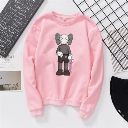 VIRENE KAWS Sweater Hoodies Shirt KAWS Cartoon Men Women Long Sleeve Sweater Hoodies Top【S - 3XL】7 Colors Ready Stock 961014