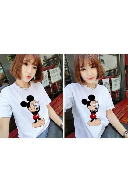 Virene Mickey T-Shirt Women Plus Size Blouse Baju Mickey Wanita READY STOCK 211320