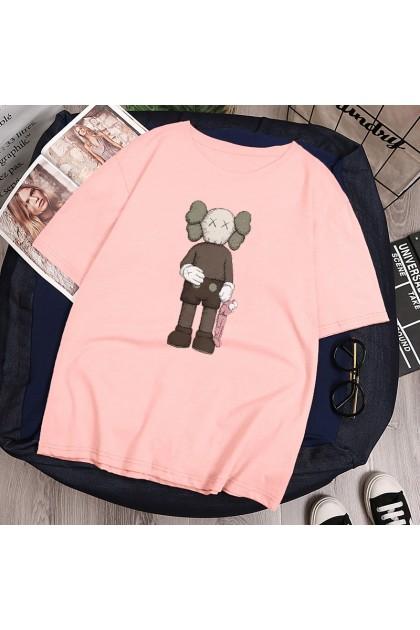 VIRENE KAWS T-Shirt Women Men Shirt Sesame Street Short Sleeve Clothes Unisex Fashion Man Women T-Shirt 【M - 2XL】Ready Stock 113316