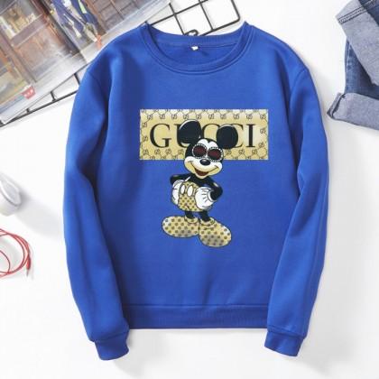 Mickey Sweater READY STOCK Plus Size Mickey Mouse Long Sleeve Sweater Pemborong Baju Disney 310052