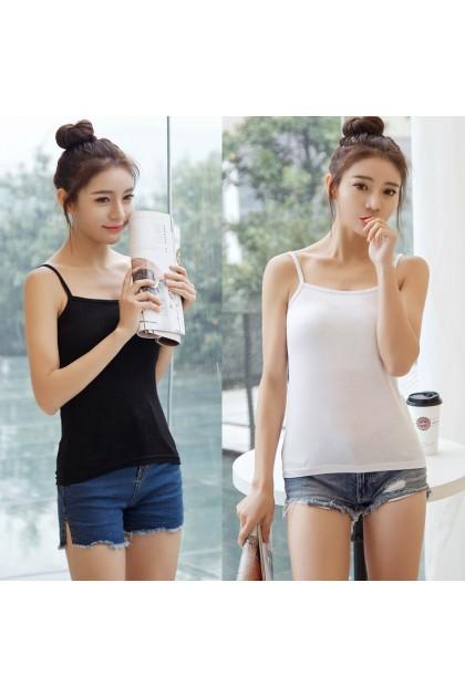 VIRENE Super Soft Cotton Singlet READY STOCK Free Size Stretch Singlet Local Wholesale 现背心 女内搭 批发 301135