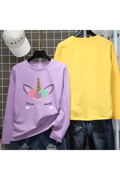 Unicorn Women Shirt Casual Long Sleeve Blouse Lovely Cute Top M - 2XL Ready Stock 211187
