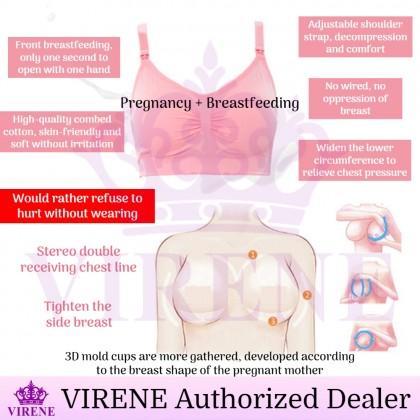 VIRENE Plus Size Nursing Bra Breastfeeding Bra Maternity Bra Pregnant Mummy Inner Wear Ready Stock 328800