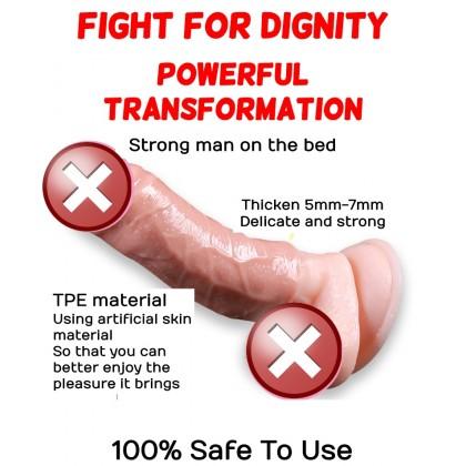 Kondom Zakar Men Penis Enlargement Dildo Condom FREE Lubricant Reusable Elastic Crystal Condom 2 Design Ready Stock