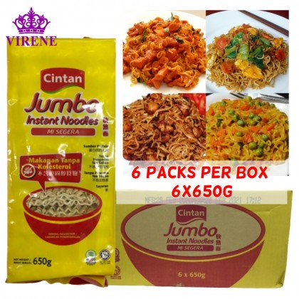 Cintan Jumbo Instant Noodles 6 Packs (6x650g) Cholesterol-Free Vegetarian Mee Segera HALAL Ready Stock 9556156053762