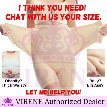 VIRENE PLUS SIZE Girdle Pants New.V Slimming Corset Pants+Belt Butt Lifter Shaper Tummy Control Belt Ready Stock 321136