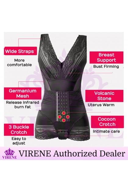 VIRENE Ultraslim Women Slimming Corset Waist Trainer Postpartum Girdle Butt Lifter Volcanic Stone Body Shaper Korset Ready Stock 741140