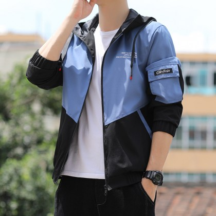 Korean Fashion Men Bomber Jacket Premium Quality Hoodies Jacket Man Outwear Coat Casual Jaket Outfit Ready Stock 531166
