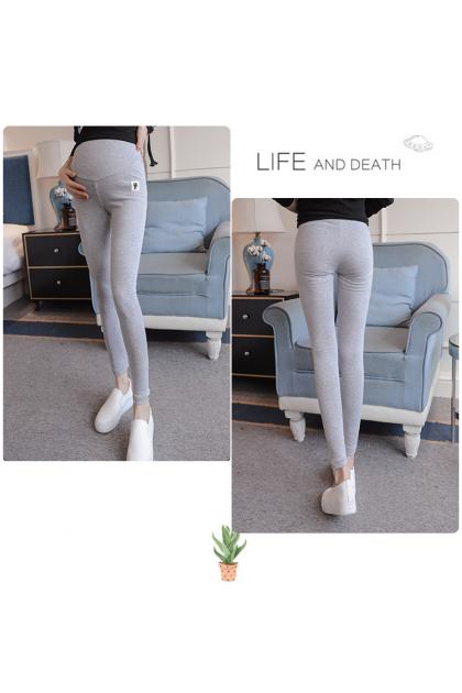 Maternity Legging Elastic Cotton Pregnancy Long Pants Mummy High Waist Stomach Support Soft Pants Ready Stock 218876