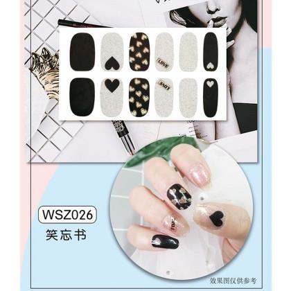 DIY Nails Sticker Girl Fingernails Sticker【BUY 6 Units FREE 1 Nail File】Cute Women Finger Nails Sticker Waterproof Exquisite Non-Toxic Manicure Sticker Ready Stock