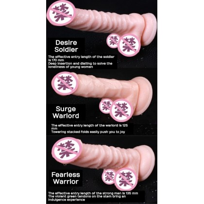 PLEASEME Dildo Masturbation Longest & Thicker Adult Toy For Women Super Stimulate TPE Big Penis (With Suction Cup) Alat Seks Wanita Zakar Palsu Ready Stock - 3 Design