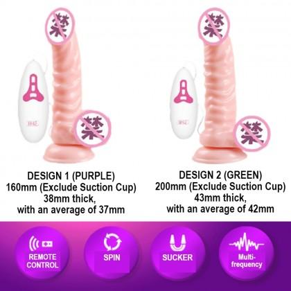 PLEASEME Dildo Masturbation Vibrator Longest & Thicker TPE Stimulate Vibration Big Penis (With Suction Cup) Alat Seks Wanita Zakar Palsu Ready Stock