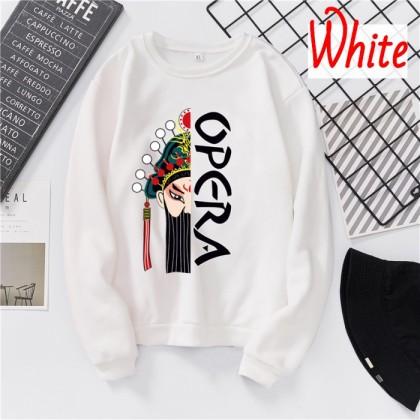 VIRENE Opera Sweater Women & Men Sweatshirt Casual Long Sleeve Shirt Loose Outerwear Jacket Couple Wear Baju Viral Ready Stock 261802