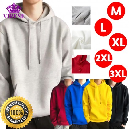 Korean Style Men Hoodies Sweatshirt Loose Sweater Outerwear Casual Jacket M - 3XL Unisex Baju Viral Ready Stock 271901
