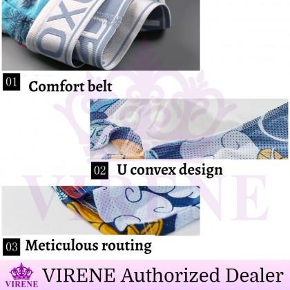 VIRENE Men Underwear Man Brief【4pcs Perpack】Man Boxers Breathable Underwear Seluar Dalam Lelaki  ( Size L - 3XL ) READY STOCK 332311