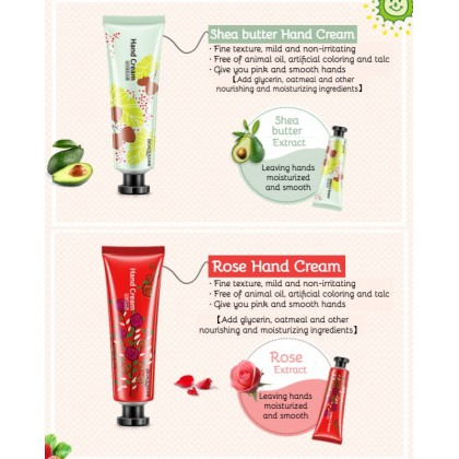 100% Original BIOAQUA Moisturizing Hand Cream【5 Units Perpack】Nourish Plant & Fruits Extract Perfumed Hand Beauty Smooth Hand Care 植物萃取香氛保湿护手霜 Ready Stock 5951BA