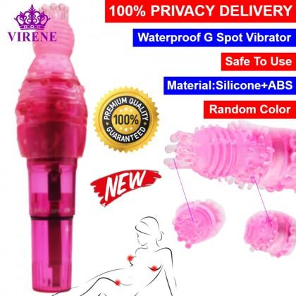 Clitoral Stimulator Vibrator Masturbation Waterproof G Spot Vibrating Adult Sex Toys for Female Erotic Toys Prostate Massager 阴蒂刺激刷乳房挑逗AV震动棒 Ready Stock 321114ST