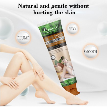 100% Original Disaar Hair Removal Cream Aloe Vera & Argan Oil Gently Quickly Painless Remove Hair Body Care (SGS GMP & SGS ISO 22716) Ready Stock 180002ACB