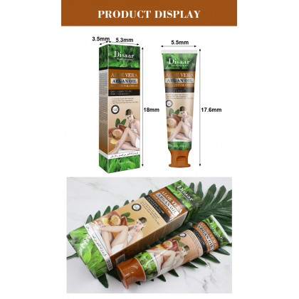 100% Original Disaar Hair Removal Cream Aloe Vera & Argan Oil Gently Quickly Painless Remove Hair Body Care (SGS GMP & SGS ISO 22716) Ready Stock 180002ACB