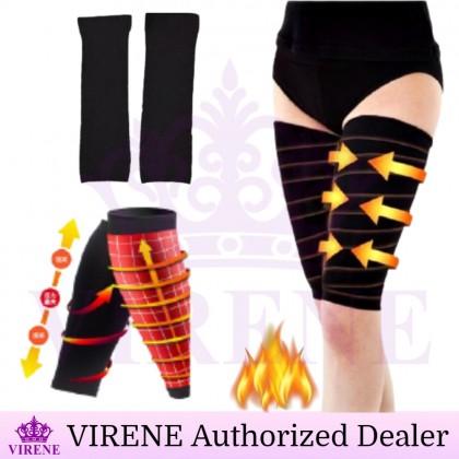 VIRENE Women Thigh Shaper【1 Pair】Leg Slimming Sock Burn Fat Thighs Shapewear Beauty Leg Trainer Bengkung Pelangsing Peha Bakar Lemak Peha Korset Ready Stock 111126