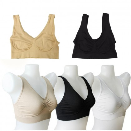 Teenagers Training Bra (Non Padded) Girl's Camisole Tank Breathable Skin-friendly Vest Inner Wear Baju Dalam Perempuan Ready Stock 100083
