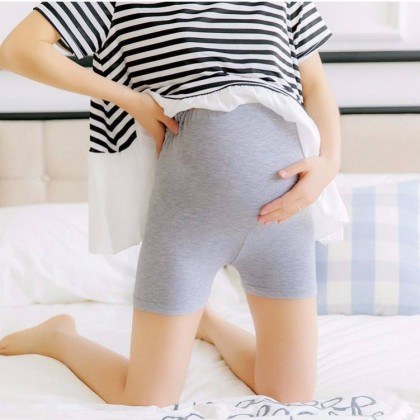 Plus Size Maternity Safety Pants Pregnancy Women Stomach Supporting Pant Nursing Mum Adjustable Short Legging 孕妇安全裤 Ready Stock 110005